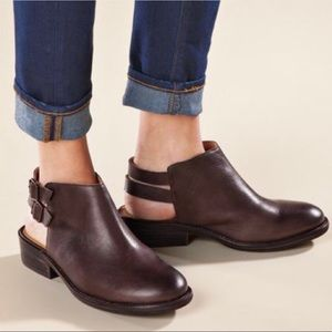 Latigo Cupcake Brown Leather Open Back Shoes 9.5M
